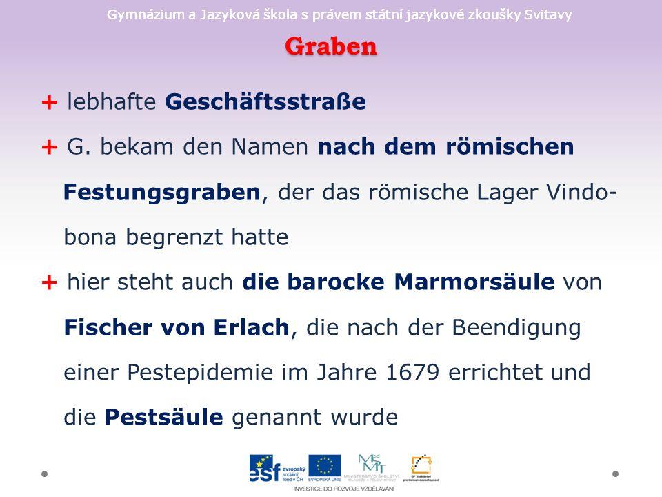 Graben + lebhafte Geschäftsstraße + G.