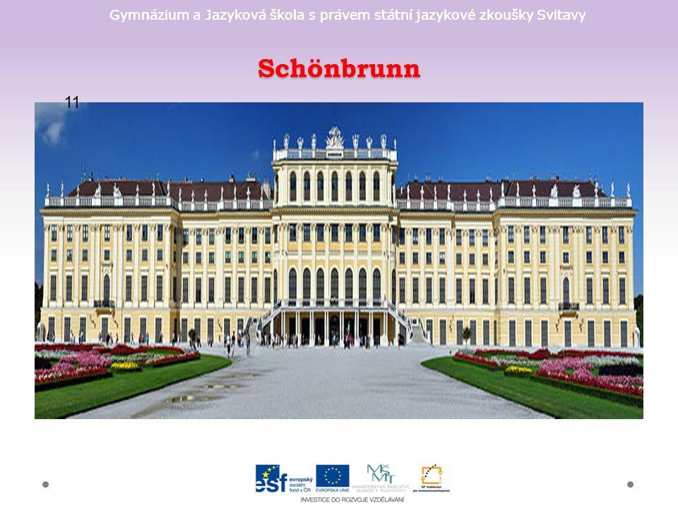 Gymnázium a Jazyková škola s právem státní jazykové zkoušky Svitavy Schönbrunn 11