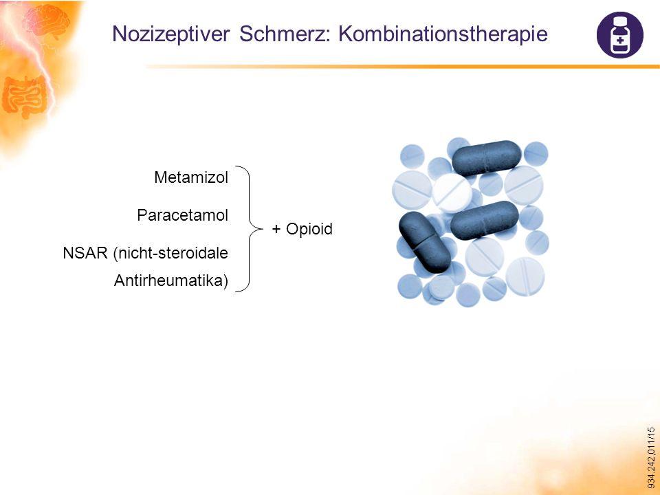 934.242,011/15 Nozizeptiver Schmerz: Kombinationstherapie Metamizol Paracetamol NSAR (nicht-steroidale Antirheumatika) + Opioid