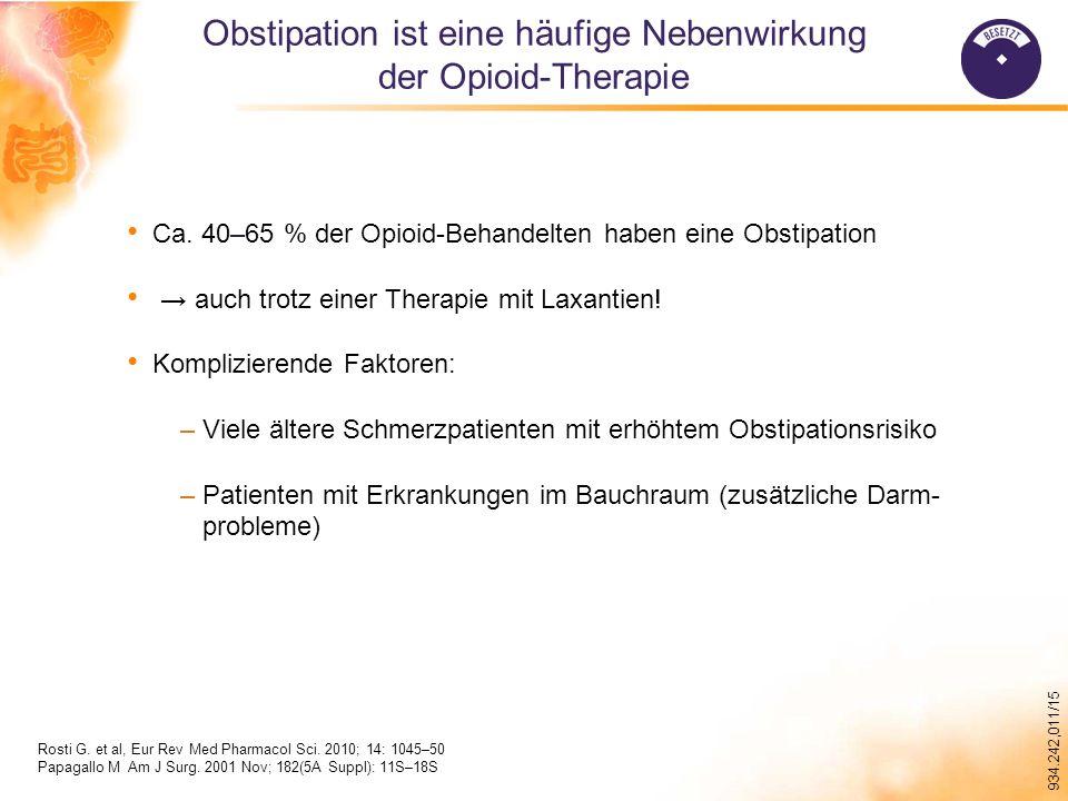 934.242,011/15 Obstipation ist eine häufige Nebenwirkung der Opioid-Therapie Rosti G.