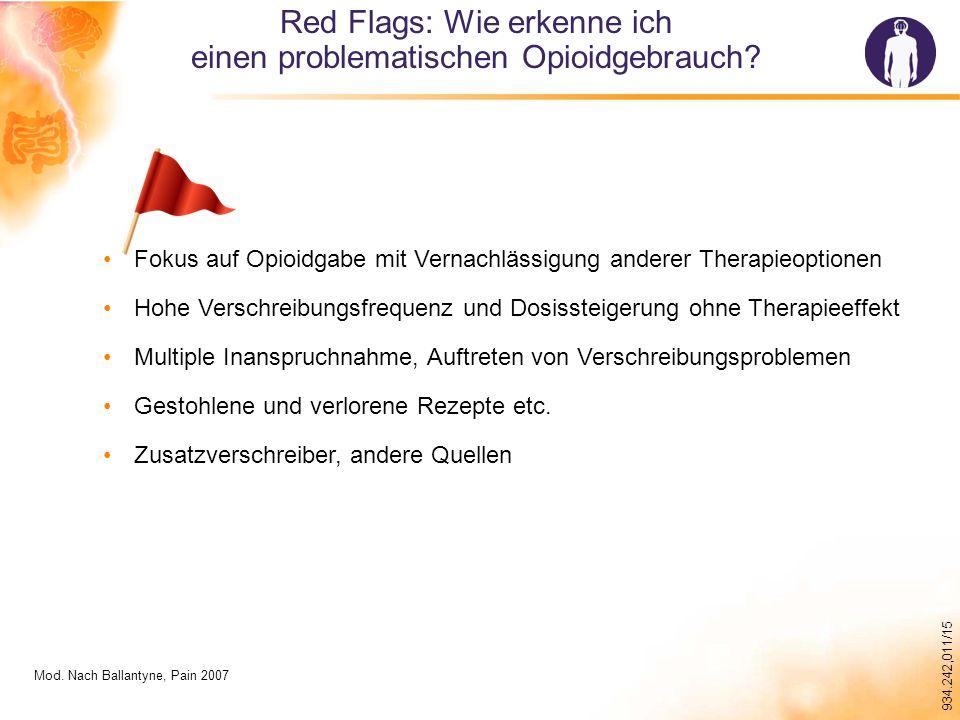 934.242,011/15 Red Flags: Wie erkenne ich einen problematischen Opioidgebrauch.