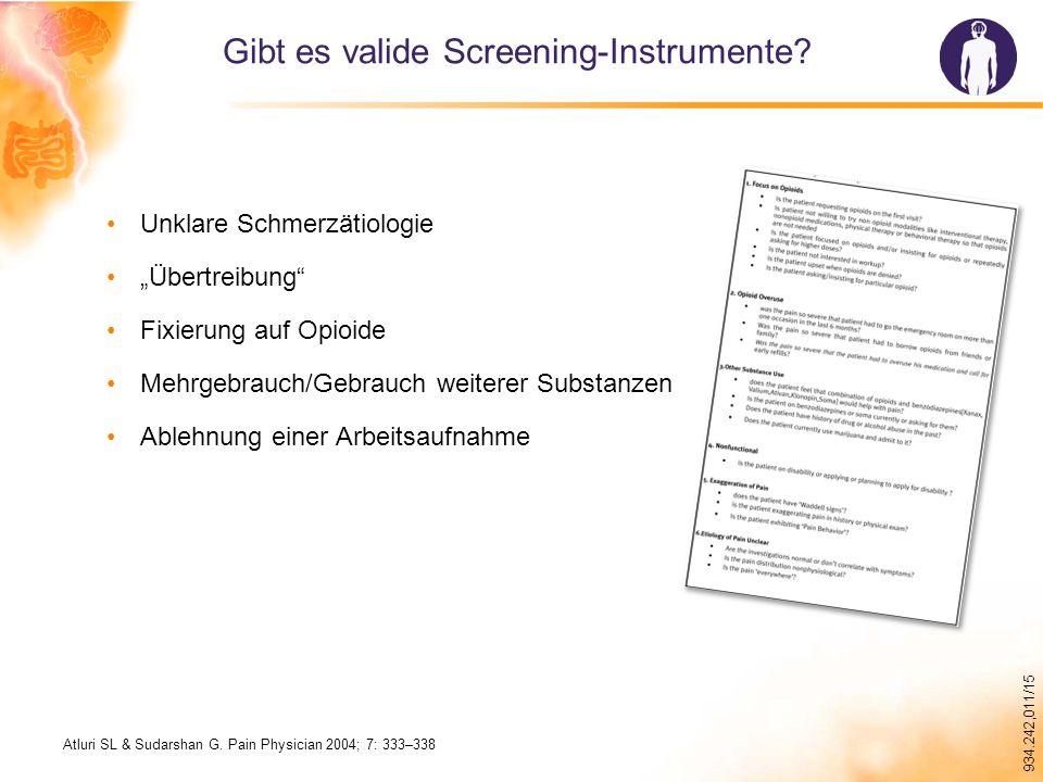 934.242,011/15 Gibt es valide Screening-Instrumente.