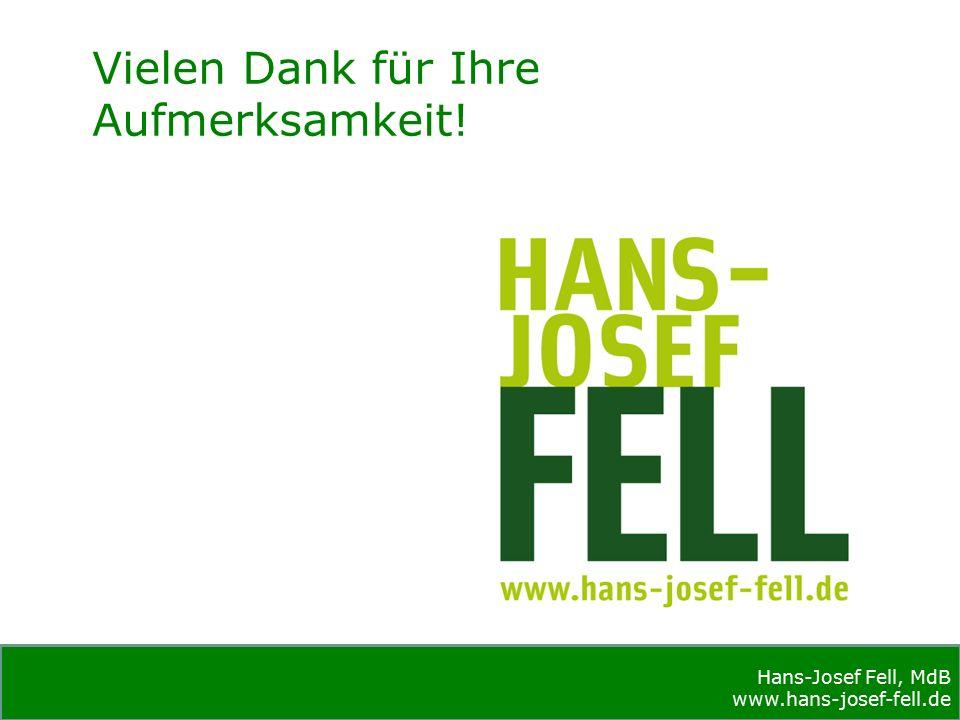Hans-Josef Fell, MdB www.hans-josef-fell.de Hans-Josef Fell, MdB www.hans-josef-fell.de Vielen Dank für Ihre Aufmerksamkeit!
