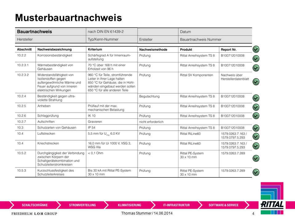 Musterbauartnachweis Thomas Stummer / 14.06.2014 4