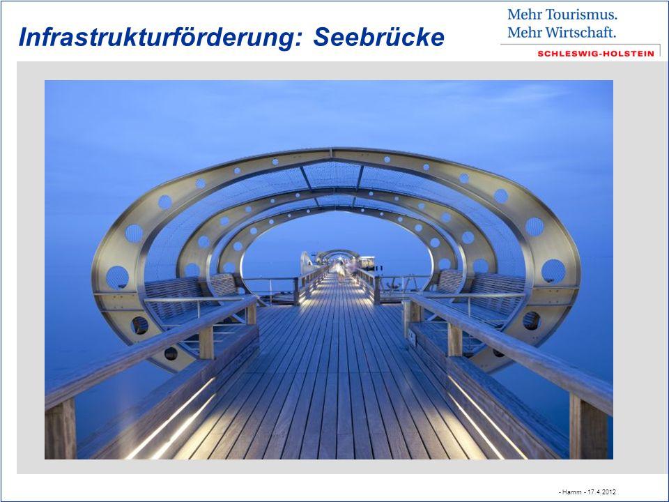 Infrastrukturförderung: Seebrücke - Hamm - 17.4.2012