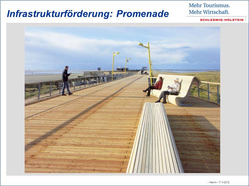 Infrastrukturförderung: Promenade - Hamm - 17.4.2012