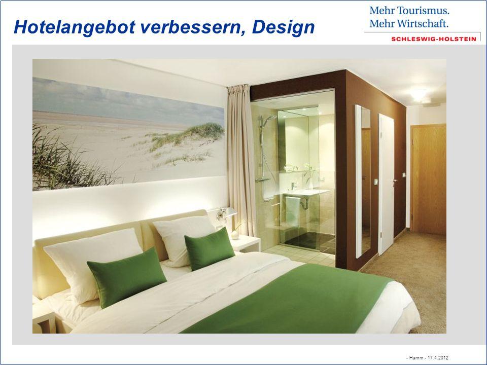 Hotelangebot verbessern, Design - Hamm - 17.4.2012