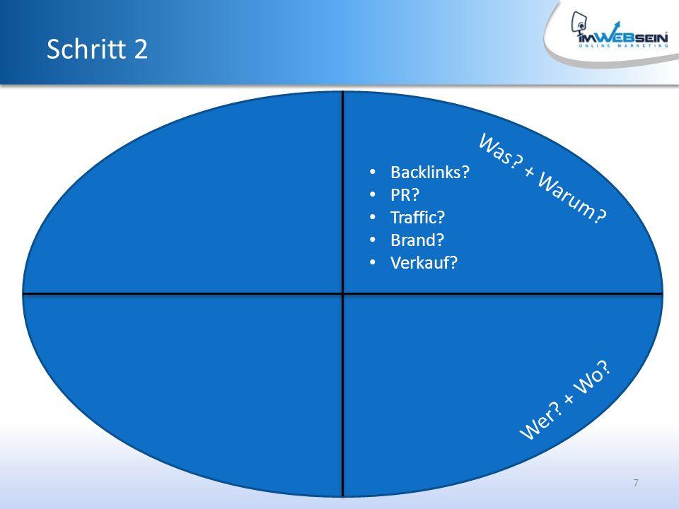 7 Was + Warum Schritt 2 Backlinks PR Traffic Brand Verkauf Wer + Wo
