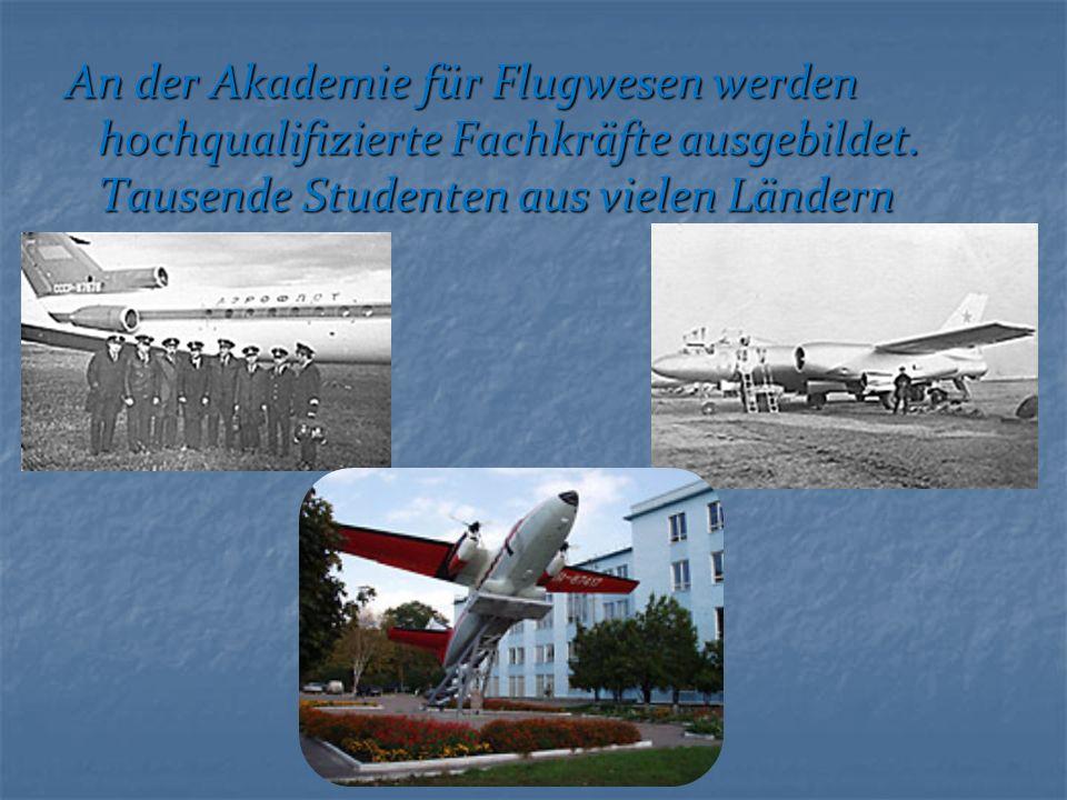 An der Akademie für Flugwesen werden hochqualifizierte Fachkräfte ausgebildet.