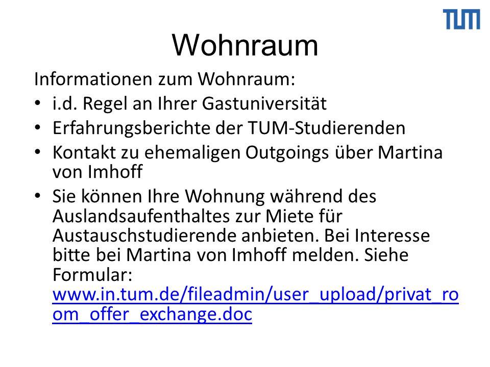 Wohnraum Informationen zum Wohnraum: i.d.