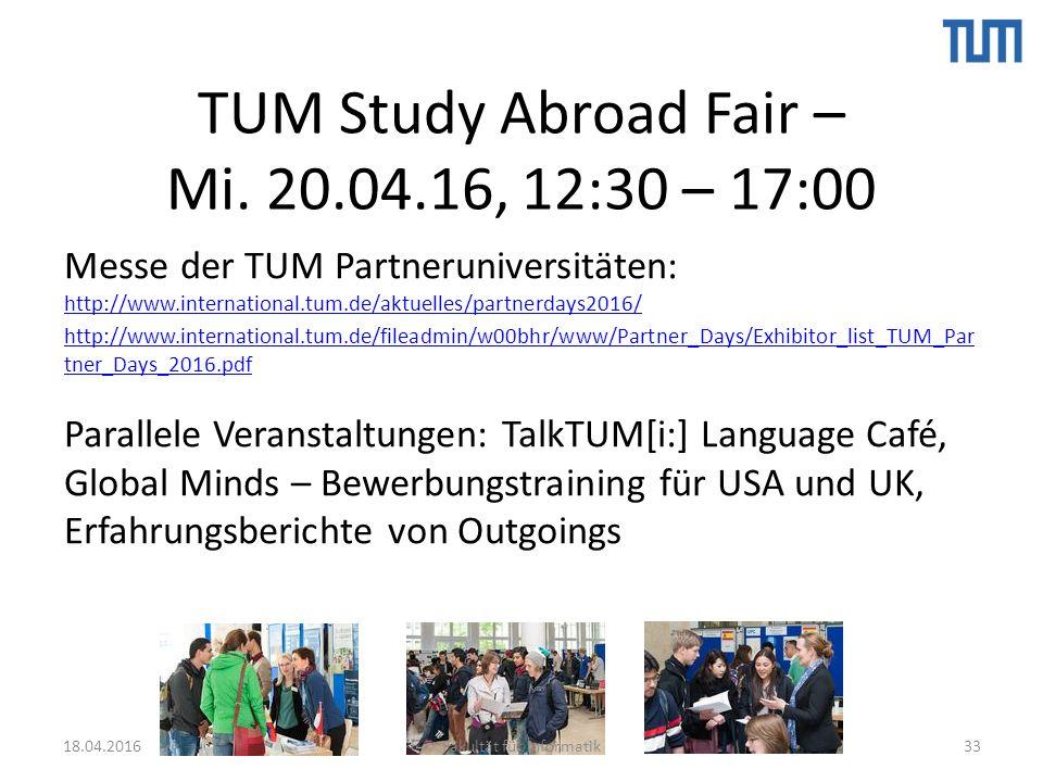 TUM Study Abroad Fair – Mi.