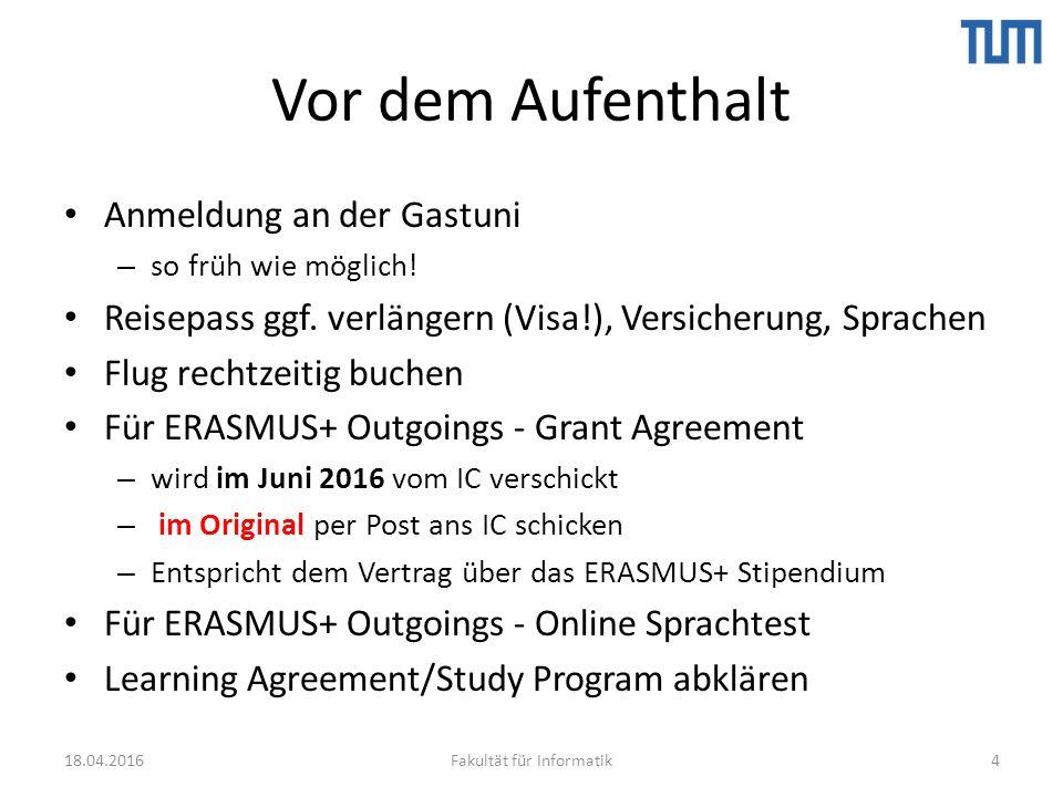 TalkTUM[i:] Sprachencafé – Campus Garching 18.04.2016Fakultät für Informatik35