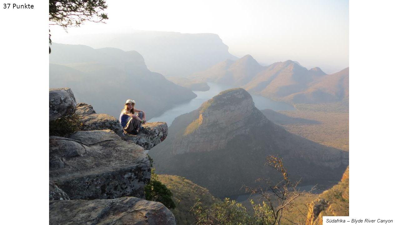 Südafrika – Blyde River Canyon 37 Punkte