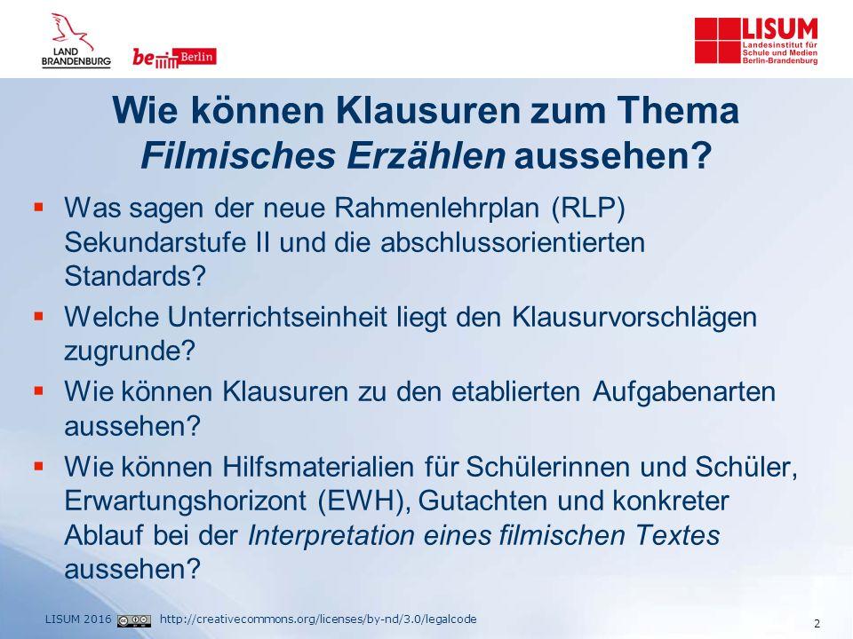 http://creativecommons.org/licenses/by-nd/3.0/legalcodeLISUM 2016 Der neue RLP Deutsch Sek. II 3