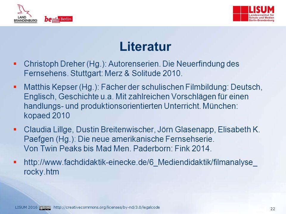 http://creativecommons.org/licenses/by-nd/3.0/legalcodeLISUM 2016 Literatur  Christoph Dreher (Hg.): Autorenserien.