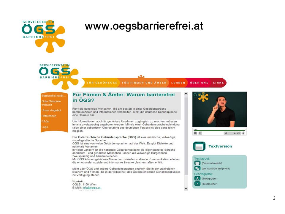2 www.oegsbarrierefrei.at