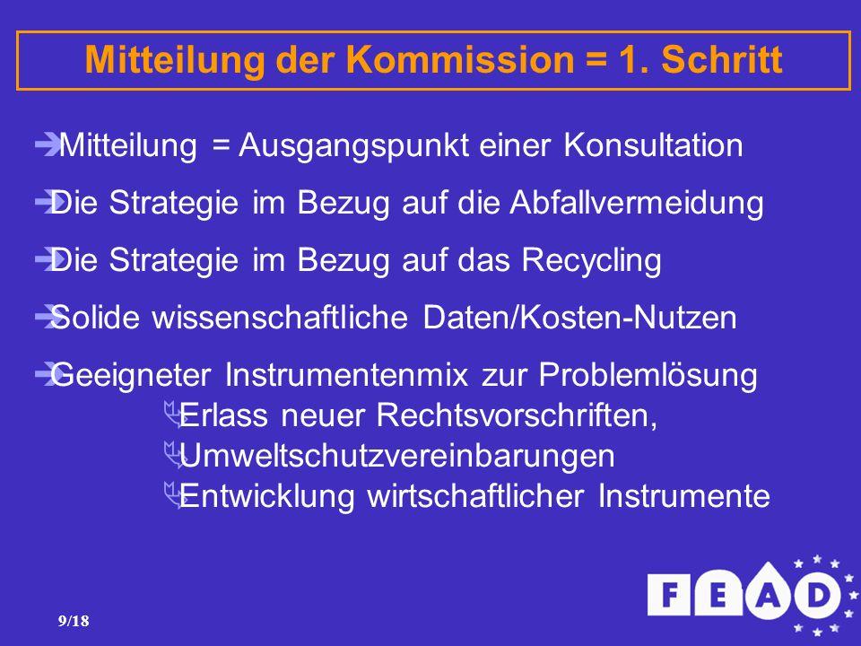 9/18 Mitteilung der Kommission = 1.