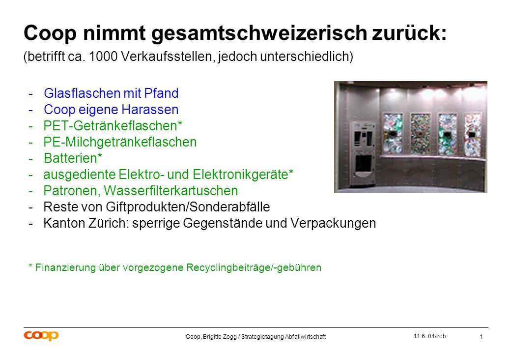 Coop, Brigitte Zogg / Strategietagung Abfallwirtschaft1 11.6.