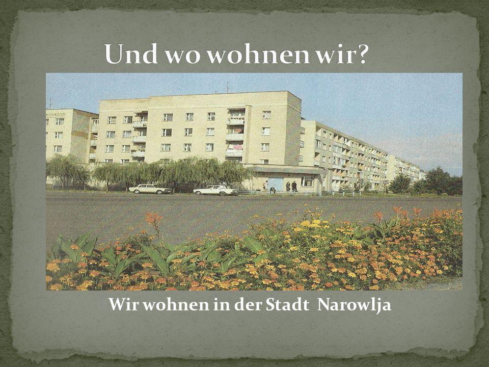 Wir wohnen in der Stadt Narowlja