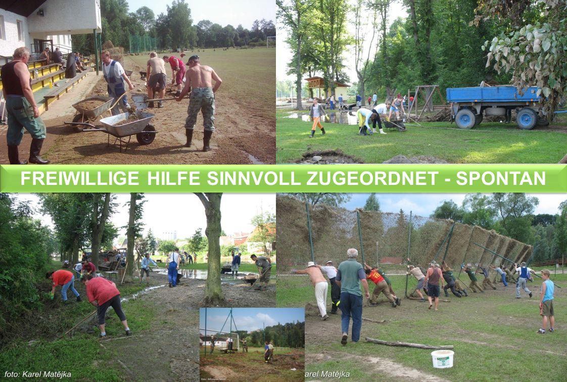 FREIWILLIGE HILFE SINNVOLL ZUGEORDNET - SPONTAN