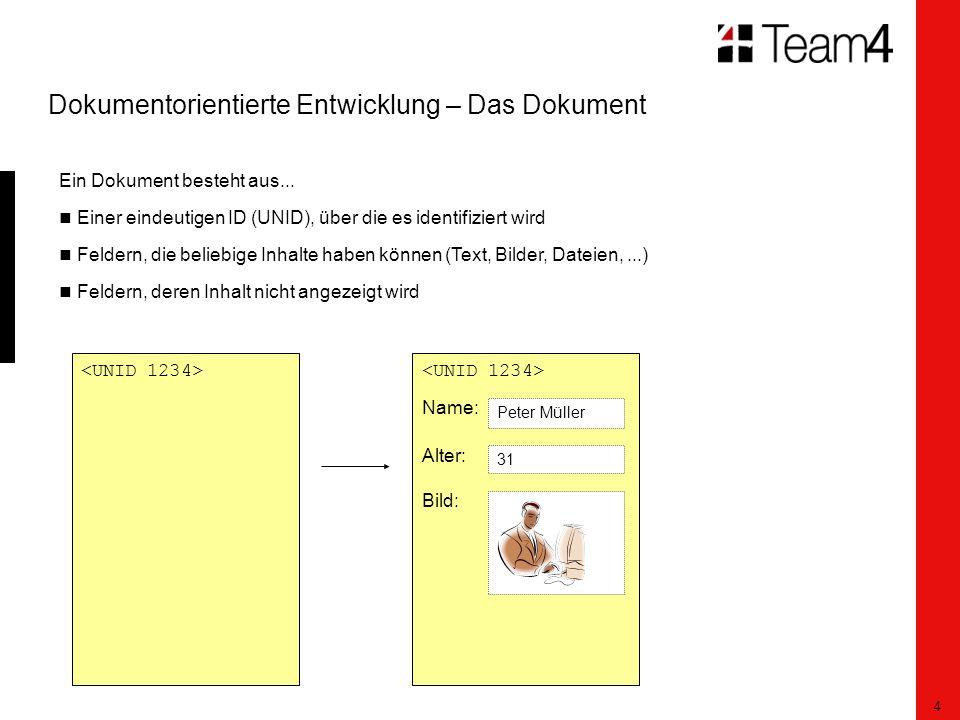 5 Dokumentorientierte Entwicklung – Das Dokument Mit jedem Feld sind Events verbunden, in denen Code ausgeführt werden kann, z.B.