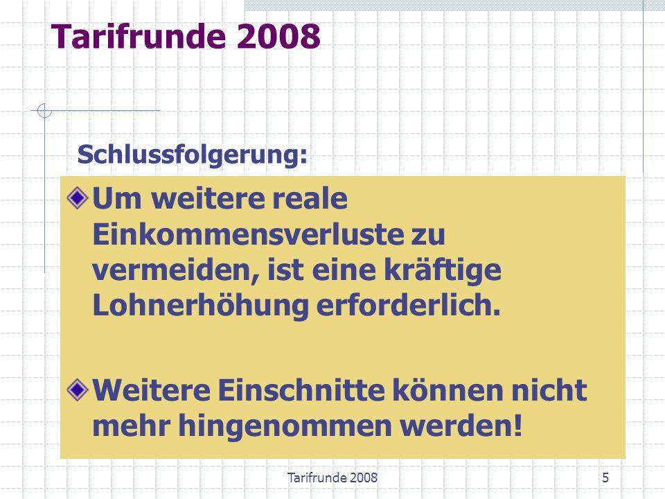 Tarifrunde 20086 Wirtschaftliche Ausgangslage 2008 Wirtschaft brummt.