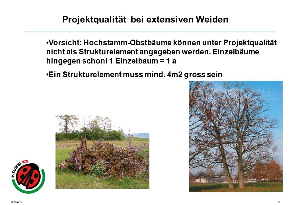 21.06.20168 Vorsicht: Hochstamm-Obstbäume können unter Projektqualität nicht als Strukturelement angegeben werden.