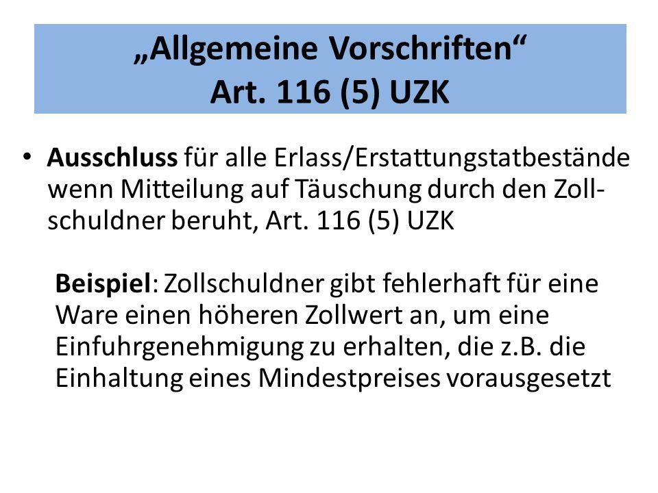 """""""Allgemeine Vorschriften Art."""