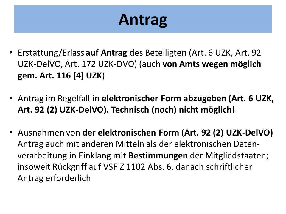 Antrag Erstattung/Erlass auf Antrag des Beteiligten (Art.