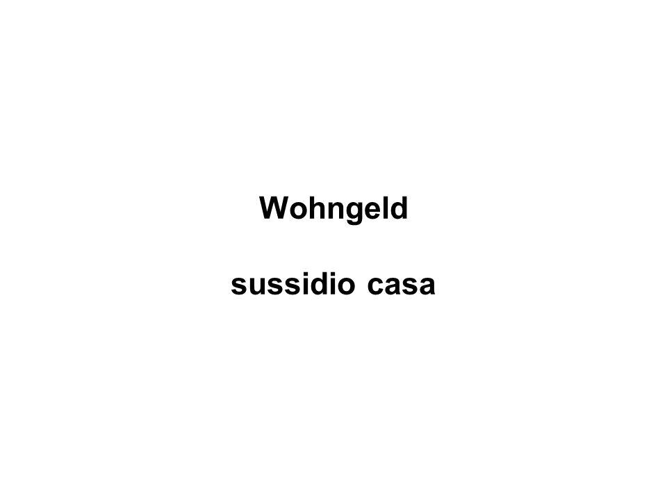 Wohngeld sussidio casa