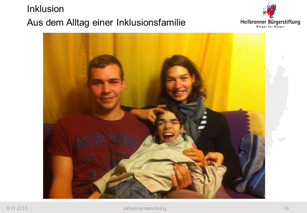 Inklusion Aus dem Alltag einer Inklusionsfamilie 6.11.201519Jahresversammlung