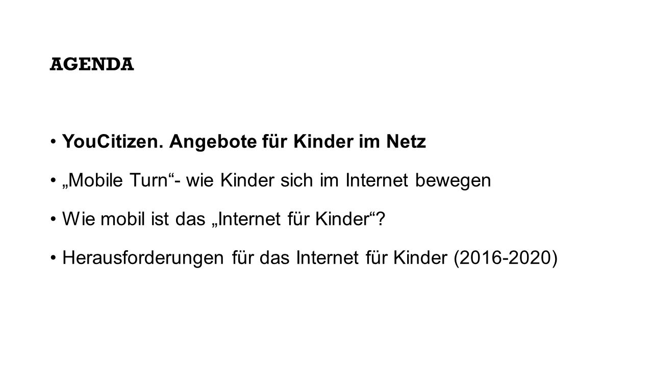 AGENDA YouCitizen.