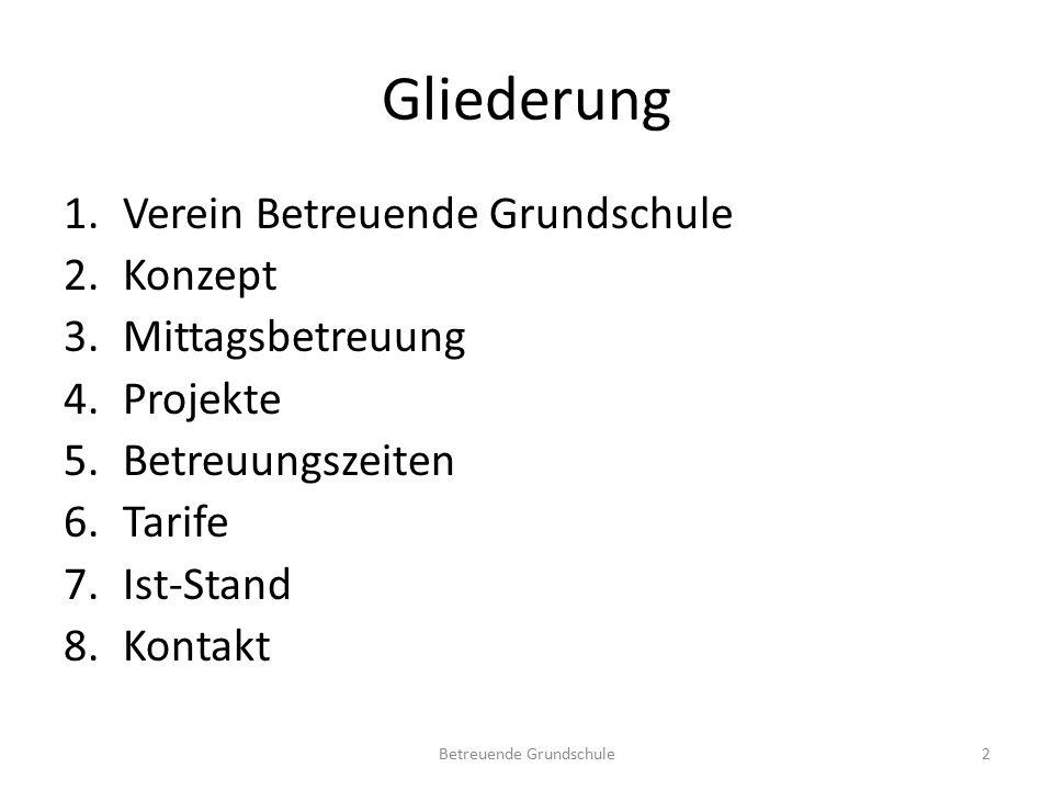 """1.Verein Betreuende Grundschule -Verein """"Betreuende Grundschule e."""