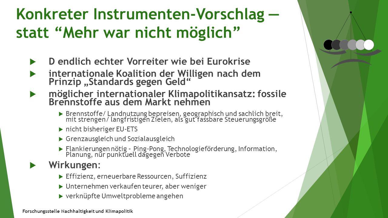 Forschungsstelle Nachhaltigkeit und Klimapolitik Eigene Texte (Auswahl)  Ekardt, Jahrhundertaufgabe Energiewende: Ein Handbuch, Taschenbuch 2014 (auch über Zentralen für pol.