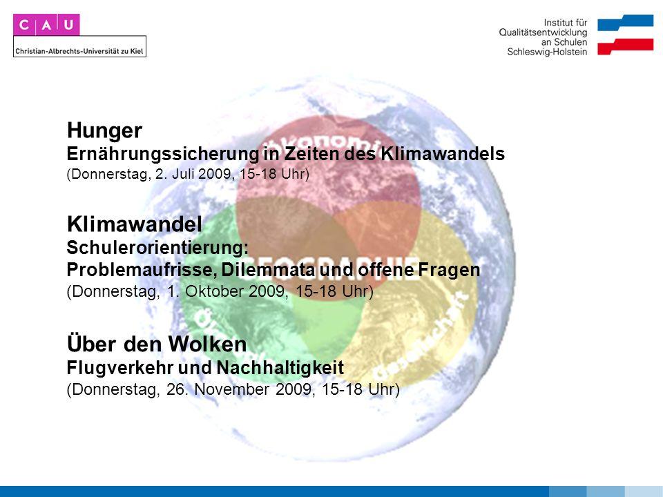 Hunger Ernährungssicherung in Zeiten des Klimawandels (Donnerstag, 2.