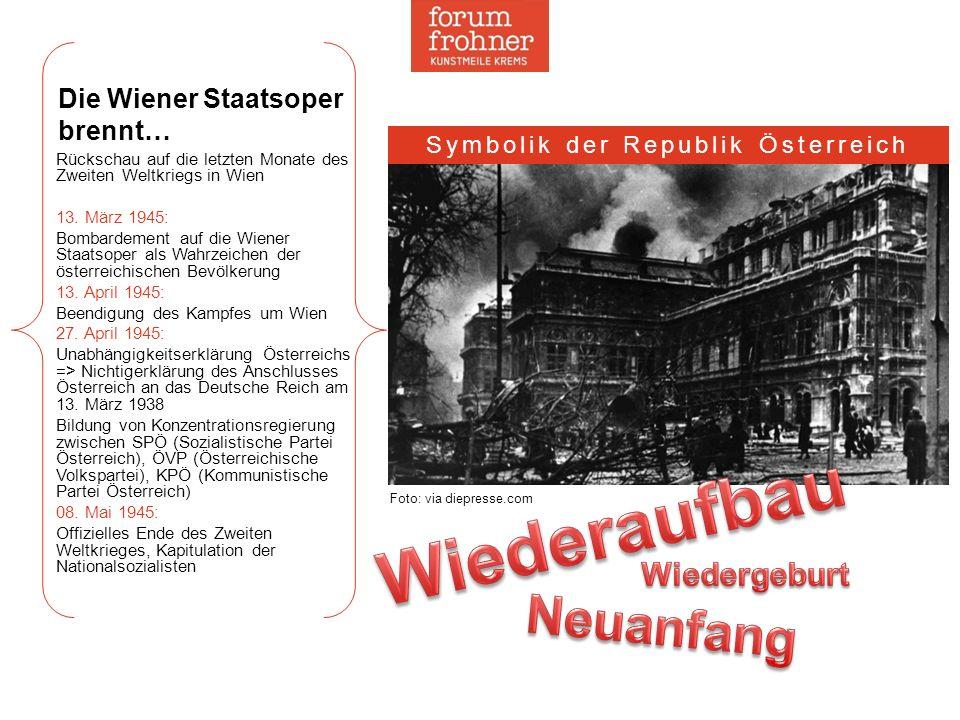 Die Wiener Staatsoper brennt… Rückschau auf die letzten Monate des Zweiten Weltkriegs in Wien 13. März 1945: Bombardement auf die Wiener Staatsoper al