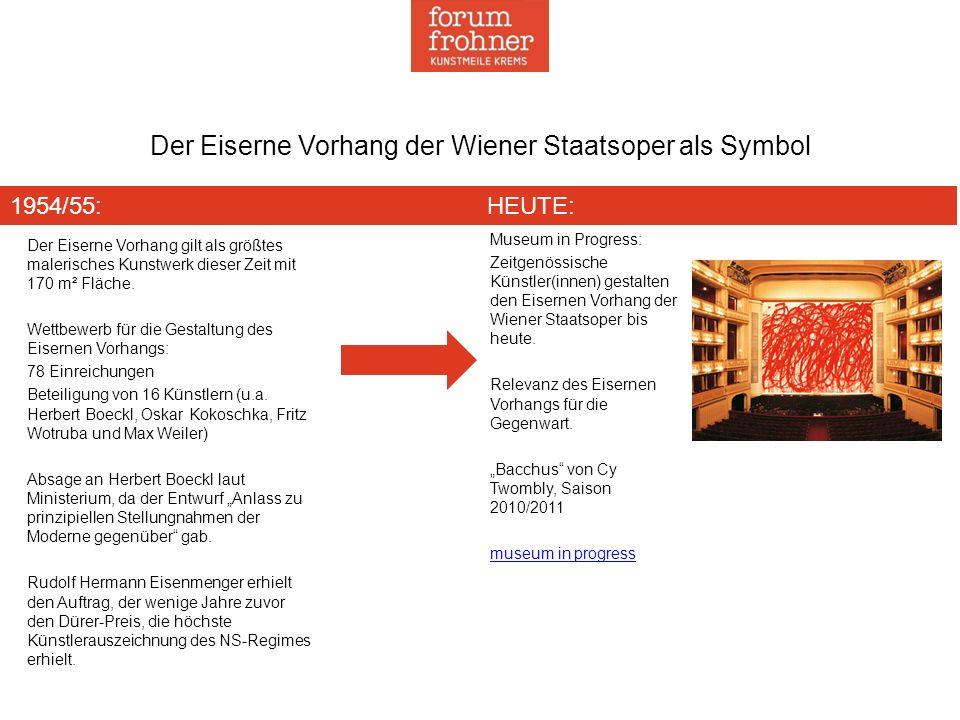 Museum in Progress: Zeitgenössische Künstler(innen) gestalten den Eisernen Vorhang der Wiener Staatsoper bis heute. Relevanz des Eisernen Vorhangs für