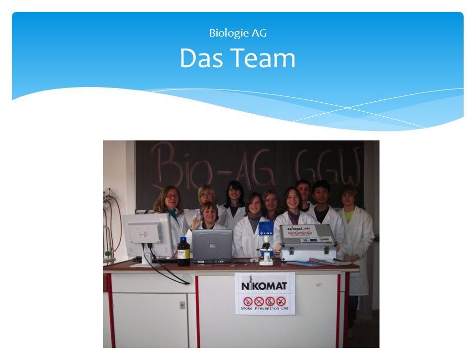 Biologie AG Das Team