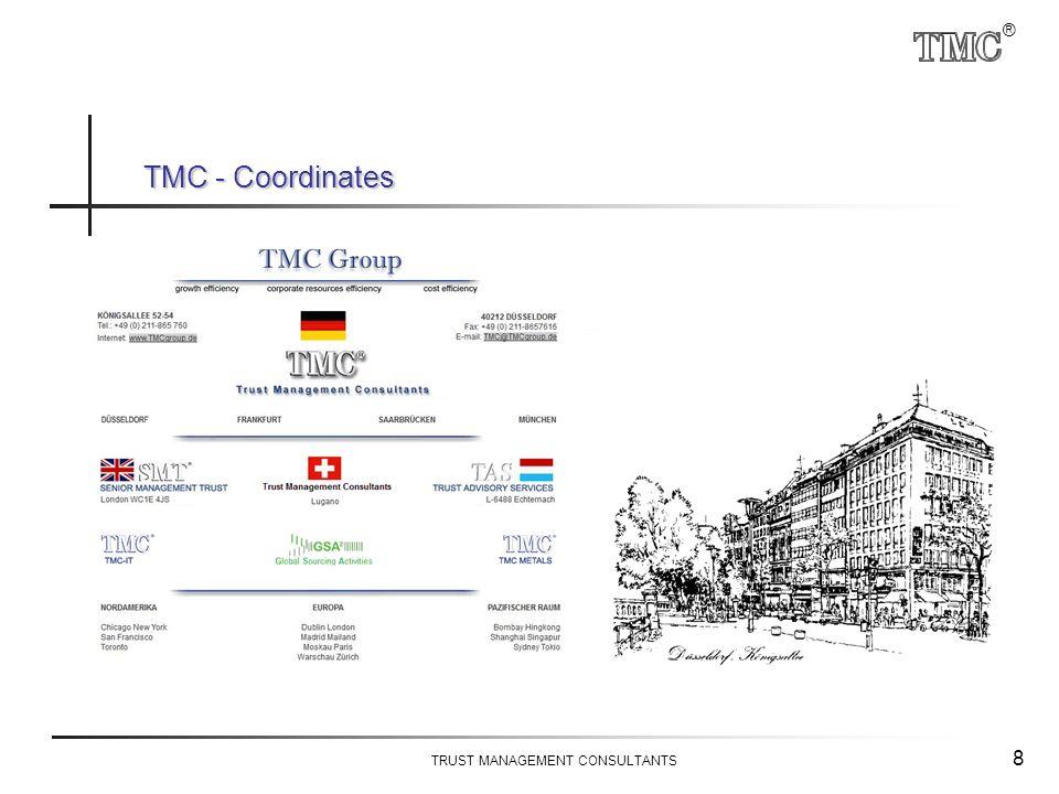 ® TRUST MANAGEMENT CONSULTANTS 8 TMC - Coordinates
