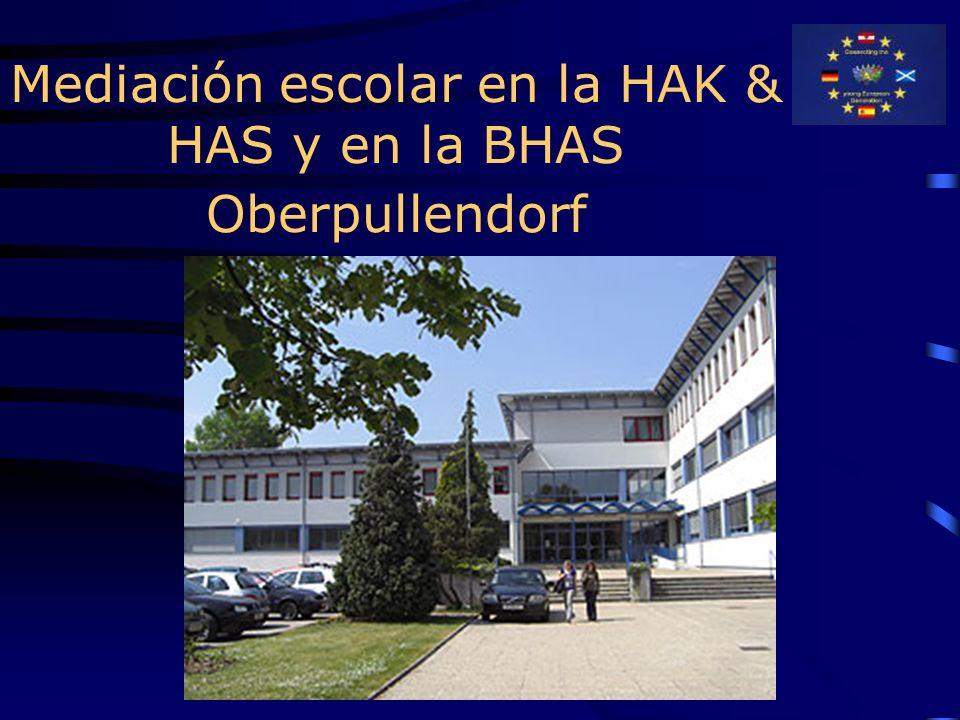 Mediación escolar en la HAK & HAS y en la BHAS Oberpullendorf