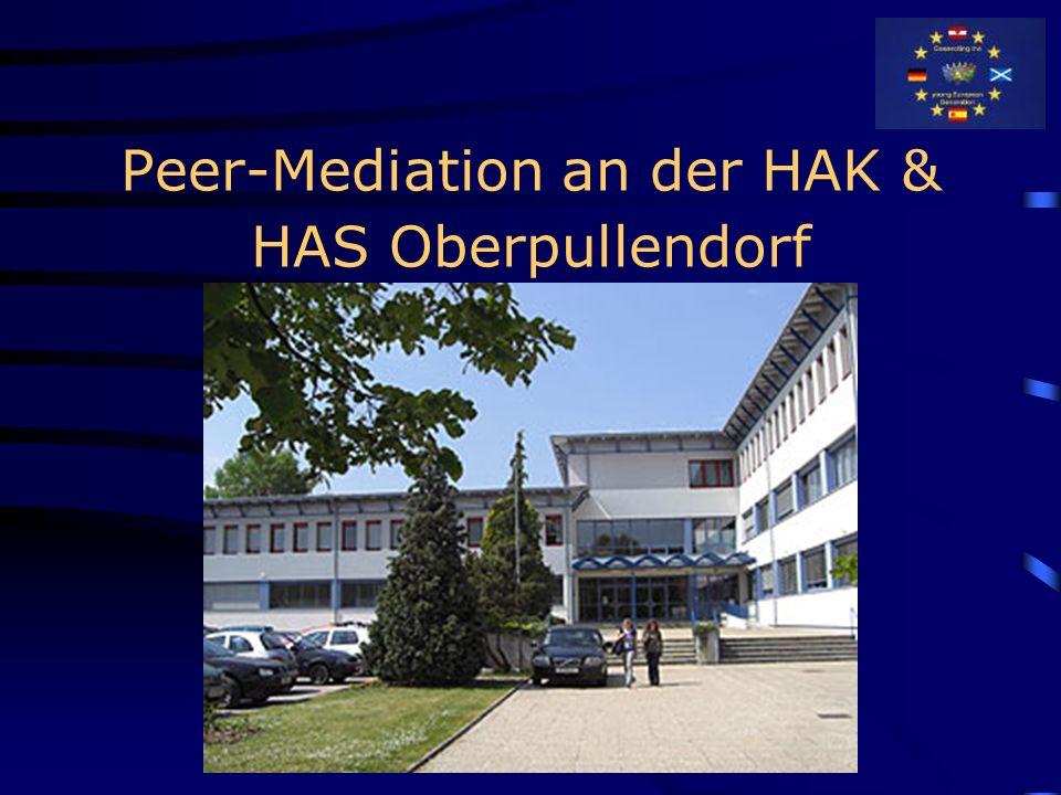 Peer Mediation Un proyecto Comenius de Staatliche Wirtschaftsschule Bad Neustadt (Alemania) HAK Oberpullendorf (Austria) IES Santo Tomás de Aquino en Puerto del Rosario (Fuerteventura) Kemnayacademy (Escocia)