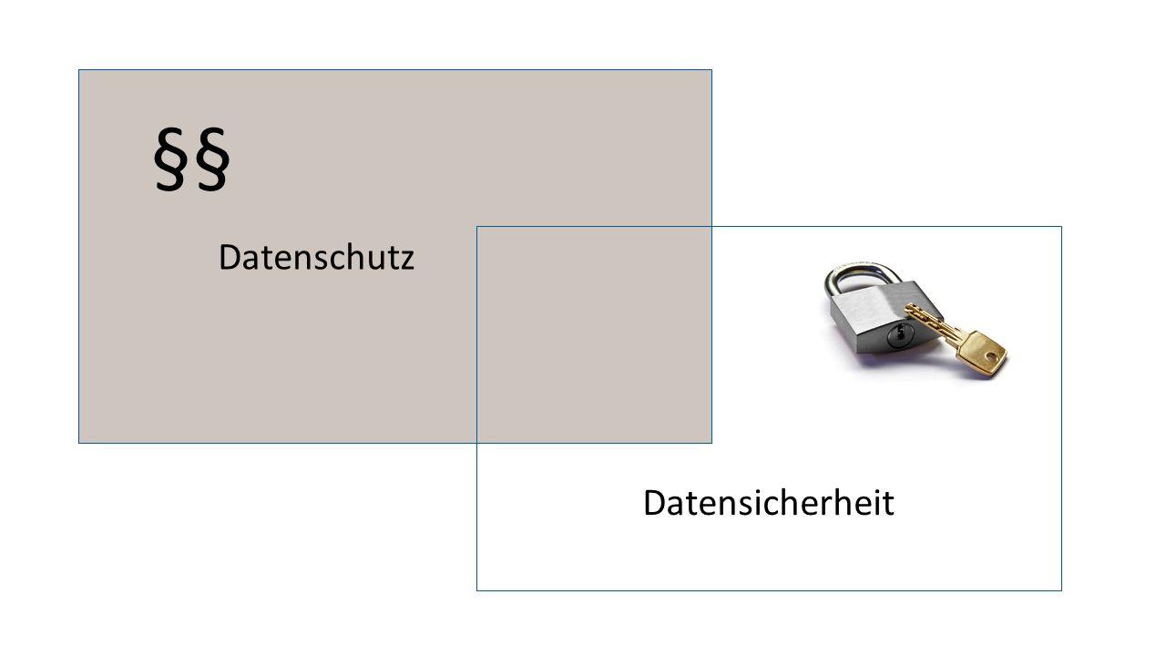 Datenschutz Datensicherheit §§