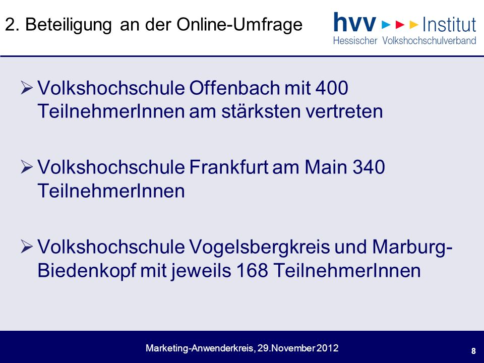 Marketing-Anwenderkreis, 29.November 2012 2.