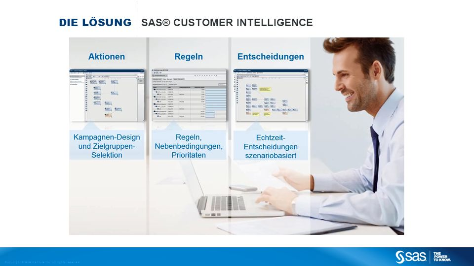 Copyright © SAS Institute Inc. All rights reserved. DIE LÖSUNG SAS® CUSTOMER INTELLIGENCE