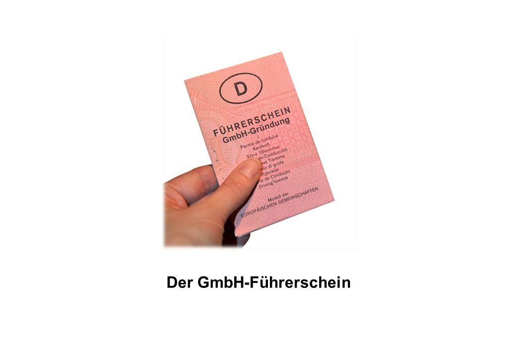Der GmbH-Führerschein