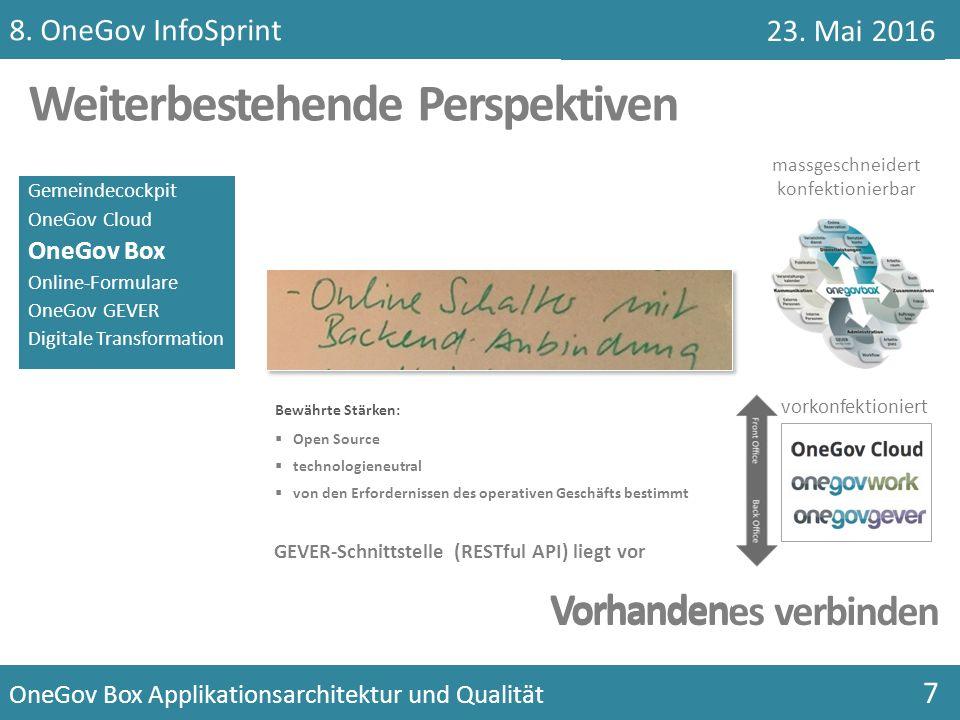 Gemeindecockpit OneGov Cloud OneGov Box Online-Formulare OneGov GEVER Digitale Transformation massgeschneidert konfektionierbar vorkonfektioniert Weit