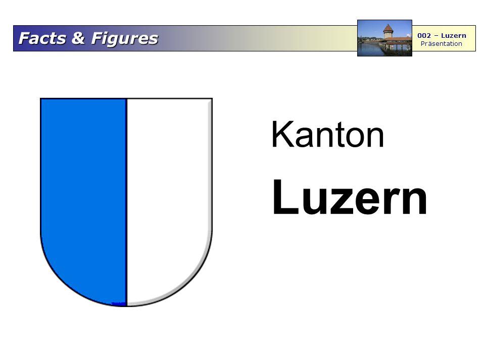 Facts & Figures 002 – Luzern Präsentation Der Kanton Luzern Die Nachbarn: Bern, Obwalden, Nidwalden, Zug, Schwyz und Aargau