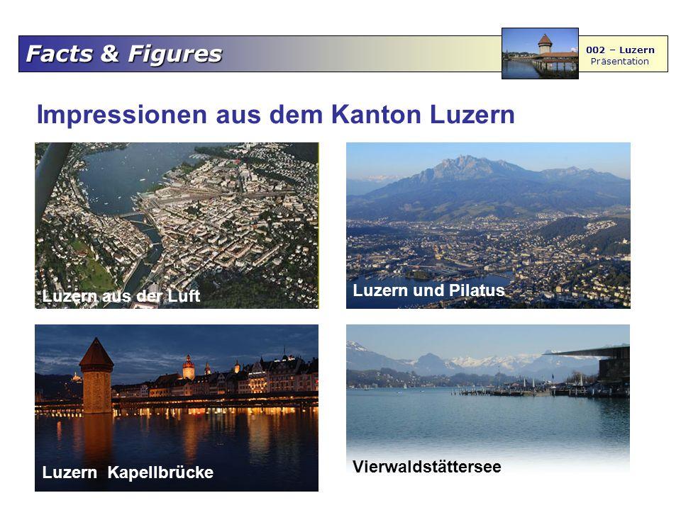 Facts & Figures 002 – Luzern Präsentation Luzern aus der Luft Luzern und Pilatus Luzern Kapellbrücke Vierwaldstättersee Impressionen aus dem Kanton Luzern