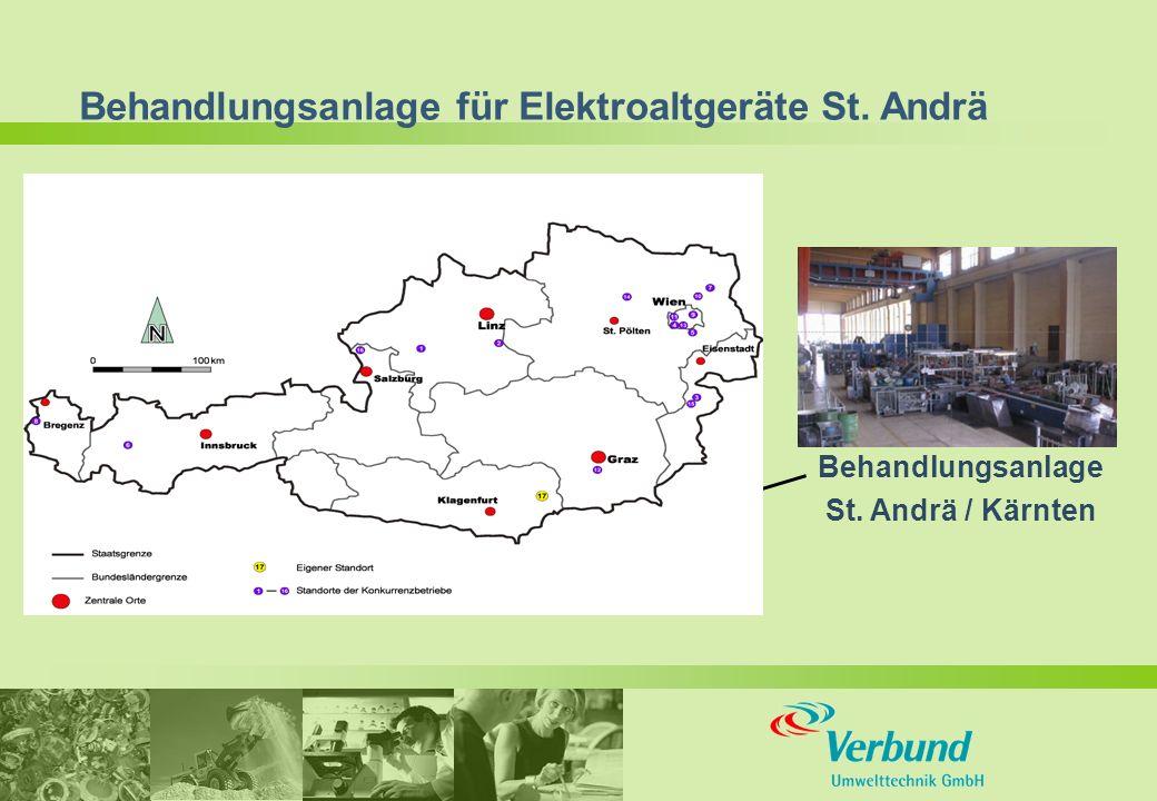 Behandlungsanlage für Elektroaltgeräte St. Andrä Behandlungsanlage St. Andrä / Kärnten