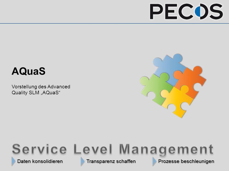 "Daten konsolidieren Transparenz schaffen Prozesse beschleunigen Daten konsolidieren Transparenz schaffen Prozesse beschleunigen AQuaS Vorstellung des Advanced Quality SLM ""AQuaS"